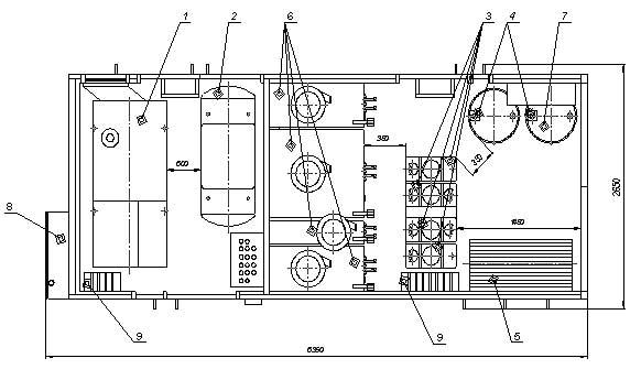 Компоновочная схема агрегата МЗА.